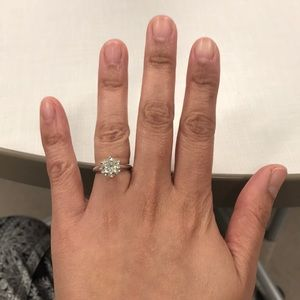 Authentic Moissanite Solitaire ring